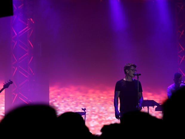 A-ha no palco do Net Live Brasília (Foto: Vianey Bentes/TV Globo)