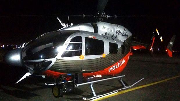 Aeronave da Secretaria de Segurança Pública do Ceará possui equipamentos que permitem voos noturnos (Foto: Divulgação/Sesed)