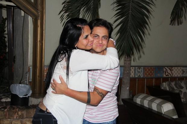 Gretechen e Thammy Miranda após jantar no Rio (Foto: Rodrigo dos Anjos/Ag News)
