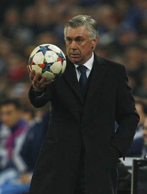 Ancelotti Schalke x Real Madrid (Foto: Reuters)