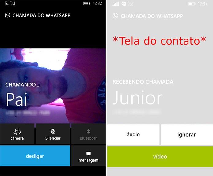 Contato será avisado sobre videochamada no WhatsApp e poderá atender com áudio ou vídeo (Foto: Reprodução/Elson de Souza)