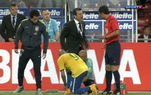 Dunga Brasil x Argentina em Pequim (Foto: Reprodução / SporTV)