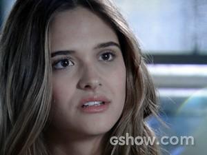 Lili fica chocada com mais essa revelação (Foto: Além do Horizonte/TV Globo)