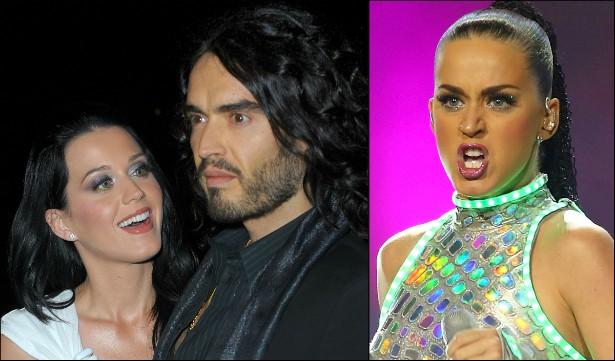 """Katy Perry sofreu muito ao longo dos 14 meses de casada com o comediante Russell Brand. Ela já revelou que, às vezes, ficava tão triste que precisava segurar as lágrimas para cantar nos shows com a alegria de sempre. Depois de um namoro também não muito agradável com o músico John Mayer, a intérprete de 'Dark Horse' deu a volta por cima. Ou, como disse certa vez numa entrevista: """"Você não precisa deitar e morrer, mesmo que você sinta que vai fazer isso"""". (Foto: Getty Images)"""