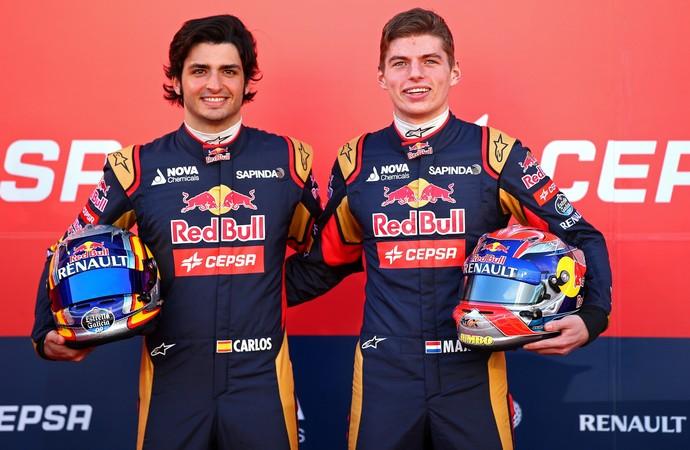 Carlos Sainz Jr. e Max Verstappen - 31/1/2015 (Foto: Getty Images)