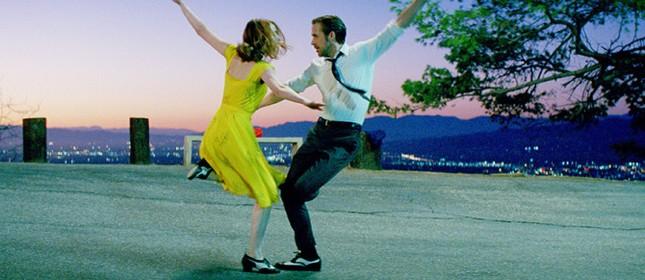 Emma Stone e Ryan Gosling no musical 'La La Land', escolha de Guardiola para levar os jogadores do City
