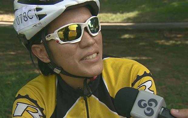 Ciclista Ana Lima participa há cinco anos da competição (Foto: Bom Dia Amazônia)