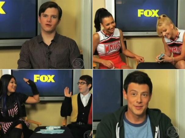 Atores de Glee respondem perguntas (Foto: Divulgação/TV Globo)