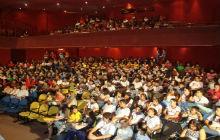 Auditório do colégio Marista (Foto: Anne Oliveira/ TV Gazeta)