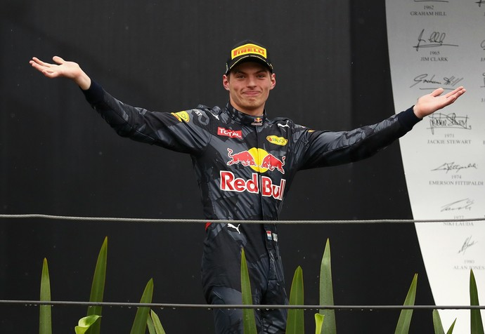 Max Verstappen tira onda no pódio do GP do Brasil (Foto: Getty Images)