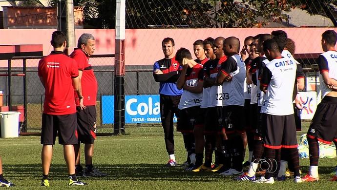 Treino - Atlético-GO (Foto: Reprodução / TV Anhanguera)