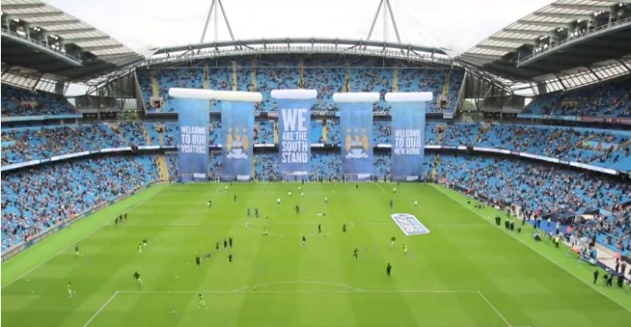 Time lapse estádio Manchester City
