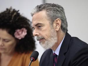 O ministro Antonio Patriota na Comissão de Relações Exteriores da Câmara (Foto: Antonio Augusto / Agência Câmara)