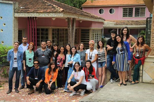 Estudantes selecionados pelo edital do projeto Curtas Universitários visitaram as instalações da Central Globo de Produção (Foto: Renato Velasco)