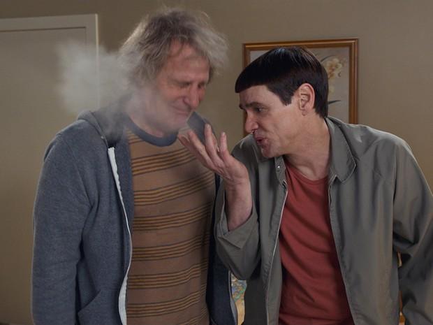 Jim Carrey e Jeff Daniels em 'Debi & Lóide 2' (Foto: Divulgação/Imagem Filmes)