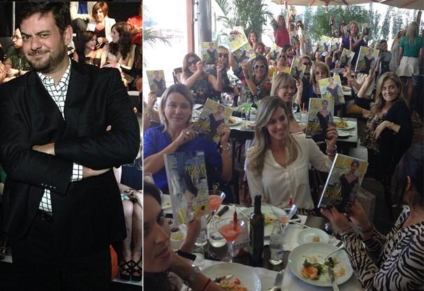 Bruno Astuto deu palestra e as convidadas se jogaram na leitura da Glamour Brasil (Foto: Reprodução Instagram)