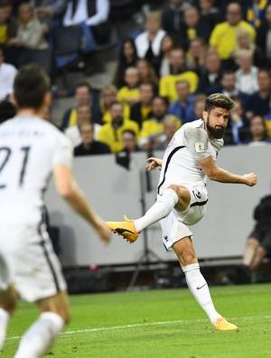 45a78a6c2b Giroud gol França Suécia (Foto  AFP)