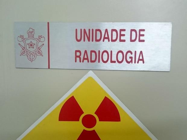 Sala de radiologia da Policlínica do Corpo de Bombeiros do DF, onde estariam peças do tomógrafo novo (Foto: Mateus Rodrigues/G1)
