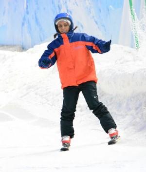Adrian Gomes esqui aéreo Gramado (Foto: Snowland/Divulgação)