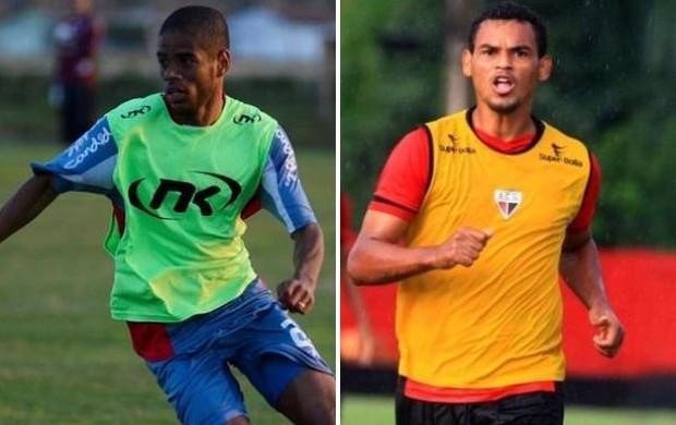 Wagner Libano, do Guaratinguetá, Bida, Atlético-GO (Foto: Montagem/ GLOBOESPORTE.COM)