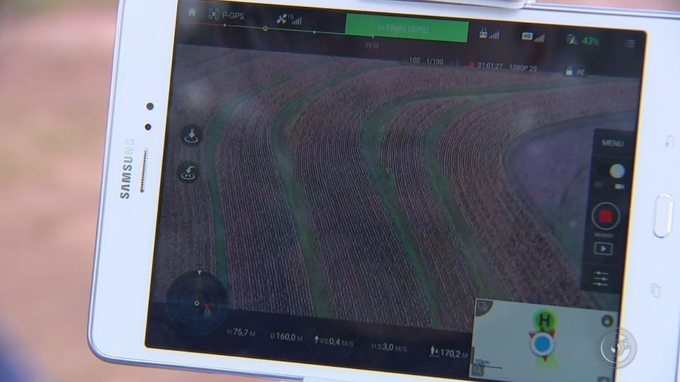 Tecnologia é usada a favor do campo  (Foto: Reprodução/TV TEM)