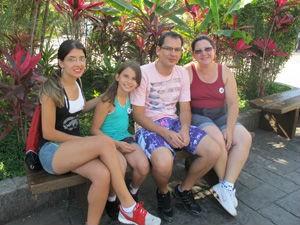 Ana Valle foi ao Playcenter com a família (Foto: Nathália Duarte/G1)