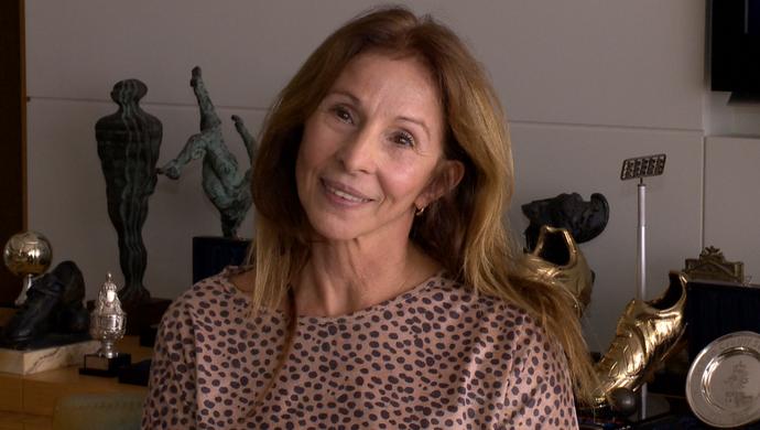 Paulina Scherrer, mãe do lateral Maxwell (Foto: Reprodução/TV Gazeta)