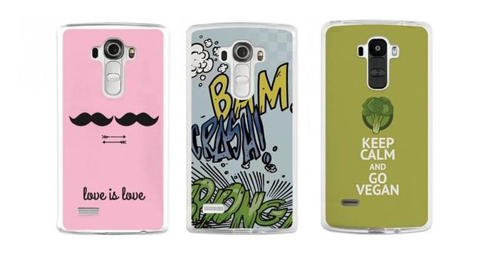 Capas com estampas personalizadas para a traseira do LG G4 (Foto: Divulgação/BeCool)