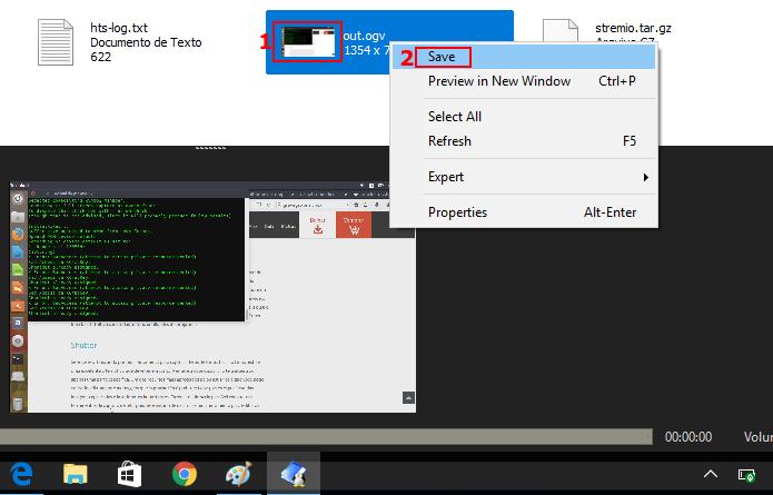 Iniciando o salvamento de um arquivo no DiskInternals Linux Reader (Foto: Reprodução/Edivaldo Brito)