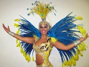 Milena Nogueira, rainha de bateria da Águia de Ouro (Foto: Marcelo Mora/G1)