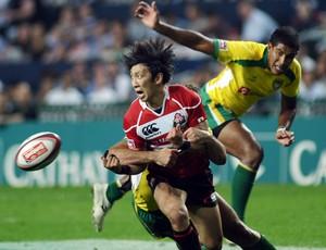 brasil e japão rugbi torneio hong kong Sevens (Foto: Agência AFP)