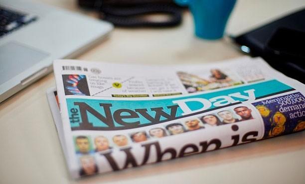 Novo jornal da editora Trinity Mirror - The New Day. (Foto: Trinity Mirror)