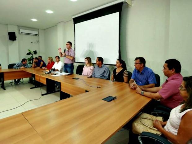 Marcus Alexandre anunciou convocação nesta quinta-feira (5) (Foto: Marcos Vicentti/Asscom PMRB)