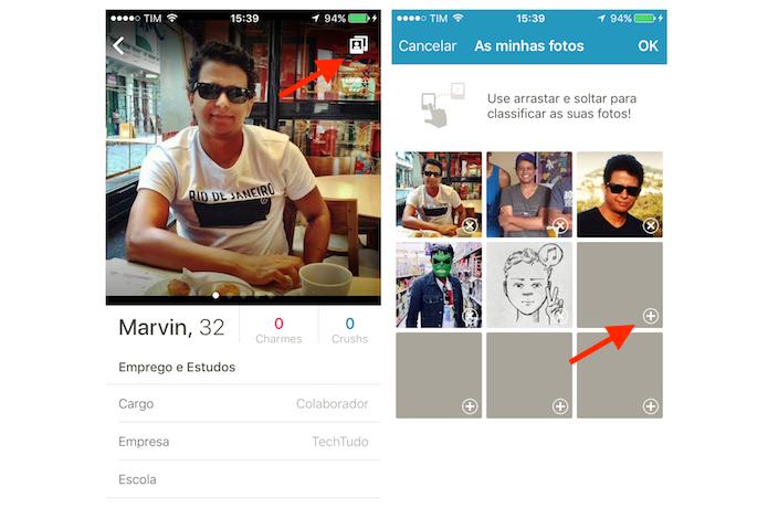 Acessando a ferramenta para upload de imagens do Happn para iPhone (Foto: Reprodução/Marvin Costa)