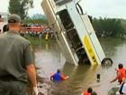 Missa lembra acidente com ônibus escolar (Reprodução/RBS TV)