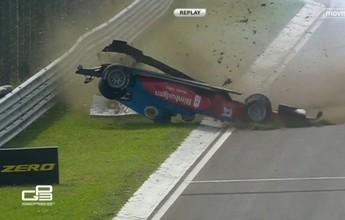 GP3: malaio é tocado e capota na largada do Grande Prêmio da Hungria
