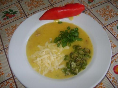 Chica doida, Caldo de milho verde com carnes e jiló