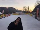 Mulher Melancia conhece a Suíça: 'É lindo esse lugar!'