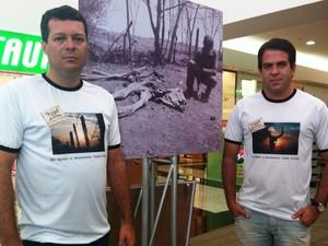 Os jornalistas Geraldo Humberto e Délio Pinheiro (Foto: Michelly Oda / G1)