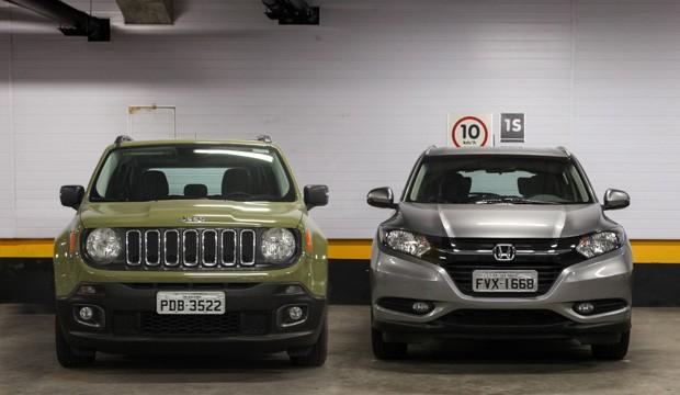 Comparativo: Honda HR-V x Jeep Renegade (Foto: Fábio Tito e Marcelo Brandt / G1)