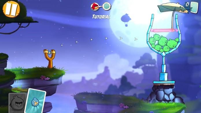 Angry Birds 2 aposta em tutorial para ensinar mecânica do jogo (Foto: Reprodução)