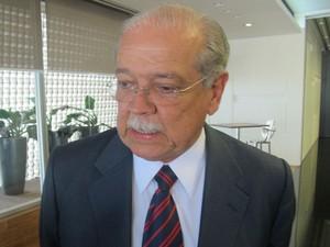 O ministro dos Transportes, César Borges, falou nesta quinta-feira (12) em São Paulo (Foto: Gabriela Gasparin/G1)