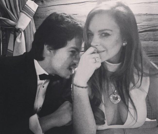 Lindsay Lohan e o noivo (Foto: Reprodução)