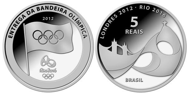 Moeda comemorativa de R$ 5, em prata, terá tiragem inicial de 5 mil peças. (Foto: Divulgação)