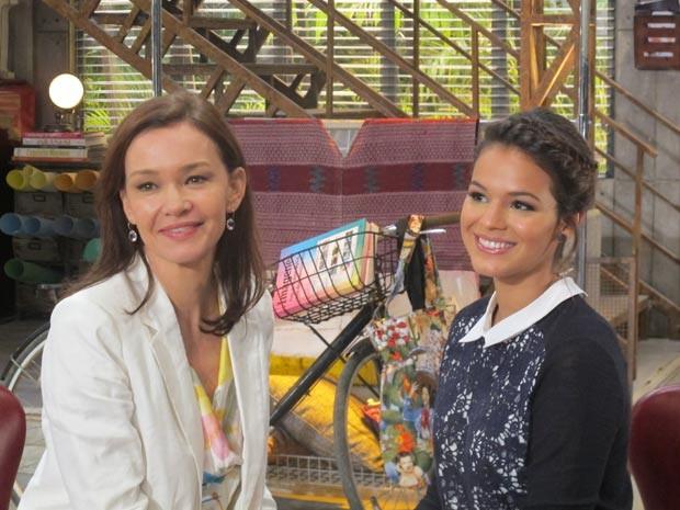 Julia Lemmertz e Bruna Marquezine vivem a última personagem Helena, numa novela de Manoel Carlos (Foto: Alba Valéria Mendonça/ G1)