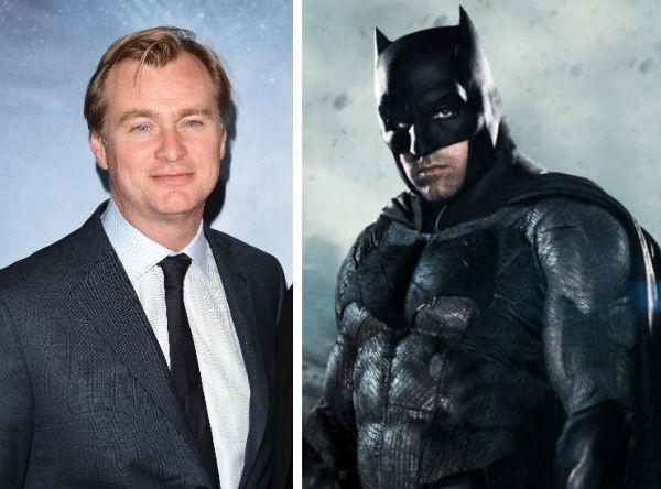 O cineasta Christopher Nolan e o ator Ben Affleck no papel do herói Batman (Foto: Getty Images/Reprodução)