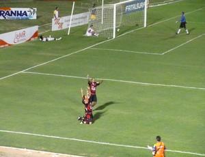 Guarany de Sobral comemora gol (Foto: Divulgação/Guarany de Sobral)
