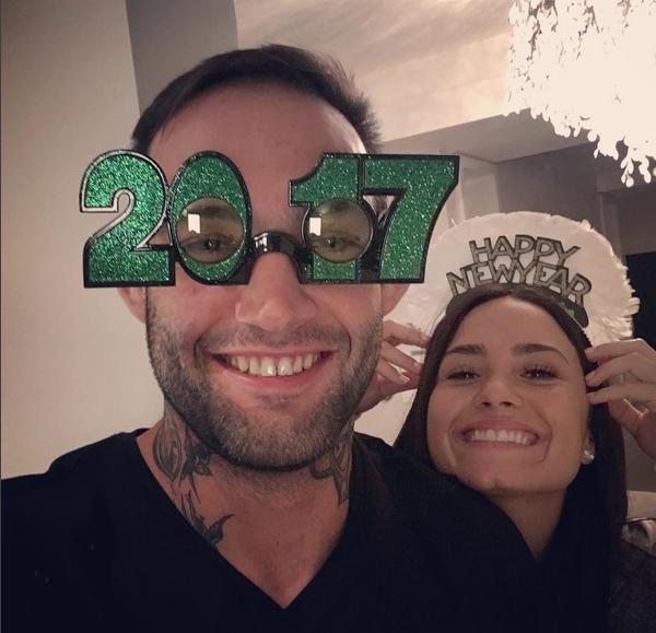 Demi Lovato e o lutador brasileiro Guilherme 'Bomba' Vasconcelos (Foto: Instagram)