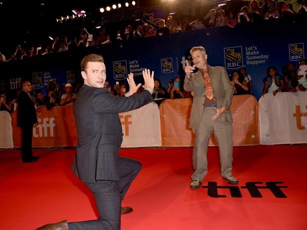 Diretor Jonathan Demme e Justin Timberlake no festival de cinema de Toronto, no Canadá (Foto: Kevin Winter/ Getty Images/ AFP)