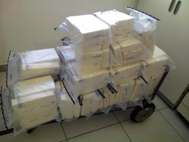 Pasta de cocaína renderia cerca de R$ 2 milhões para o tráfico, segundo polícia (Foto: Marco Antônio Leite / EPTV)